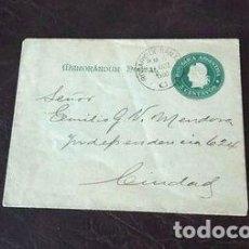 Sellos: MEMORANDUM POSTAL DE 5C ANO 1900 AL PUEBLO BRASIL SALUD. Lote 288296013