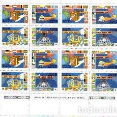 Sellos: SELLOS N 1906 AL 1909 DE BRASIL EN PLANCHA. Lote 288296018