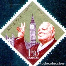 Sellos: HAITI SELLO AEREO MINT SIR WINSTON CHURCHILL BIG BEN 1968. Lote 288296058