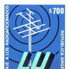 Sellos: ARGENTINA 1980 GJ 1970 ME 1275 MINT RADIOAFICIONADOS LU A ED. 970. Lote 288296118