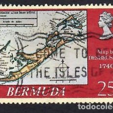 Sellos: BERMUDA (1979. MAPA ANTIGUO. YVERT Nº 373. USADO.. Lote 288485233