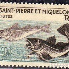 Sellos: AMÉRICA FRANCESA. SAN PEDRO Y MIQUELÓN. ABADEJOS.1957. YT-353. NUEVO SIN CHARNELA. Lote 288535408