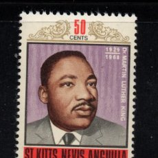 Sellos: SAN KITTS 204** - AÑO 1968 - MUERTE DE MARTIN LUTHER KING. Lote 288553983