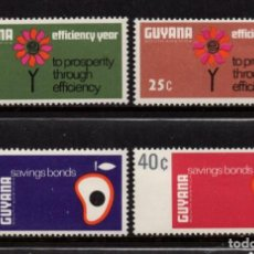 Sellos: GUYANA 299/302** - AÑO 1968 - PROSPERIDAD Y AHORRO. Lote 288556483