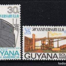 Sellos: GUYANA 336/37** - AÑO 1969 - 50º ANIVERSARIO DE LA ORGANIZACION INTERNACIONAL DEL TRABAJO. Lote 288556898