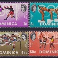 Sellos: DOMINICA 228/35 JJOO MÉJICO. Lote 289329043