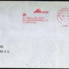 Sellos: GIROEXLIBRIS. METER - STAMPS.-MATASELLOS MECÁNICOS DE NAVIERA DE ODIEL EMPRESA DE CONTENEDORES. Lote 289547733