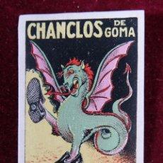 Sellos: SELLO CHANCLOS DE GOMA MARCA LEDRAGON. Lote 289630148