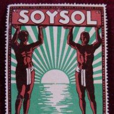 Sellos: SELLO SOYSOL LUSTRE PARA CALZADO. Lote 289746093