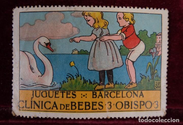 SELLO JUGUETES BARCELONA CLINICA DE BEBES 3 OBISPO 3 (Sellos - Temáticas - Varias)