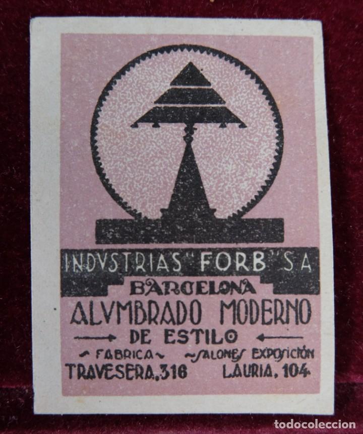 SELLO INDUSTRIAS FORB SA BARCELONA ALUMBRADO MODERNO (Sellos - Temáticas - Varias)
