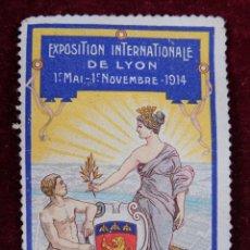 Sellos: SELLO EXPOSITION INTERNATIONALE DE LYON 1914. Lote 289747543