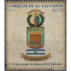 Sellos: SV2781 SALVADOR 2018 MNH THE 106TH ANNIVERSARY OF THE ATENEO DE EL SALVADOR. Lote 293408733