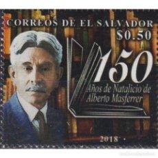 Sellos: SV2777 SALVADOR 2018 MNH THE 150TH ANNIVERSARY OF THE BIRTH OF ALBERTO MASFERRER. Lote 293410318