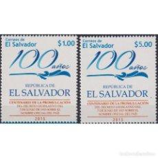 Sellos: SV2720 SALVADOR 2015 MNH THE 100TH ANNIVERSARY OF THE REPUBLIC OF EL SALVADOR. Lote 293410483