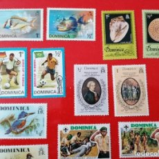 Sellos: SELLOS DE DOMINICA ,AÑOS 1970+, NUEVOS ** 16 UNIDADES (VER FOTOS). Lote 293474573