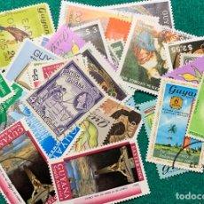Sellos: 36 SELLOS GUYANA INGLESA EN NUEVO Y USADO.. Lote 293504403
