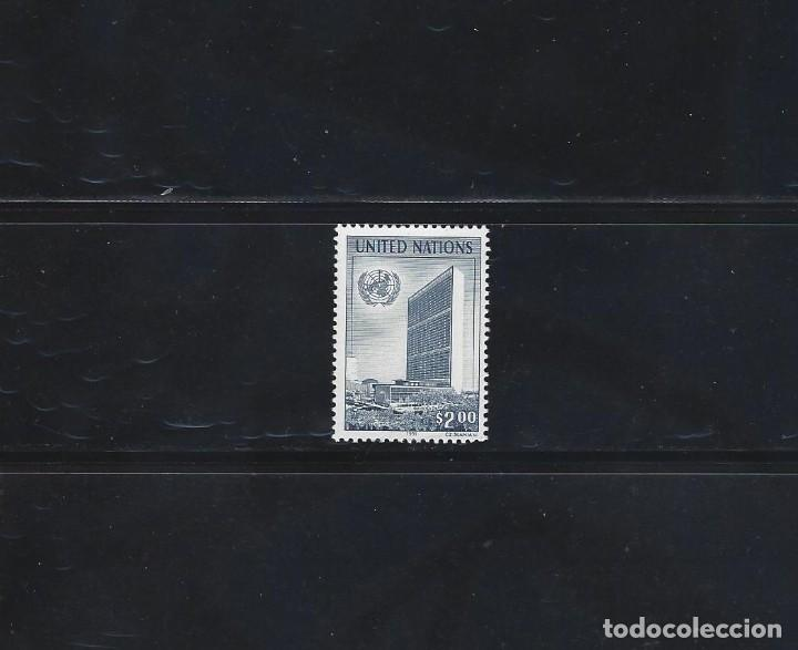 SELLOS ONU NUEVA YORK 1991 590 UNITED NATIONS EDIFICIO 1V. (Sellos - Extranjero - América - Otros paises)