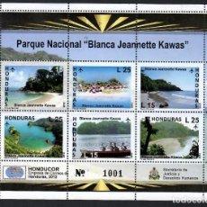 """Timbres: HONDURAS (2012). HB PARQUE NACIONAL """"BLANCA JEANNETTE KAWAS"""". NUEVO*** (VER DESCRIPCIÓN).. Lote 293905238"""