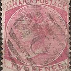 Sellos: JAMAICA COLONIA INGLESA BUEN DE CATALOGO YV 2 ANO 1860. Lote 294276283