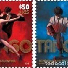 Sellos: ARGENTINA 2019 PAREJA FILATELIA ARGENTINA TANGO MINT. Lote 294276298