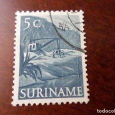 Sellos: SURINAM, 1954, EXCAVADORA, YVERT 302. Lote 294815373