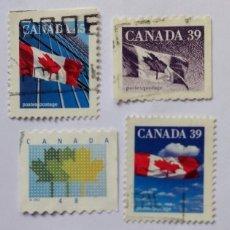 Sellos: CANADA LOTE SELLOS TEMATICA BANDERAS. Lote 295475453