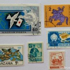 Sellos: LOTE SELLOS TEMATICA HISTORIA POSTAL - UPU - CORREOS. Lote 295475713