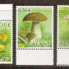 Sellos: ALAND. SETAS. 3 VALORES 2003. ***.. Lote 295549988