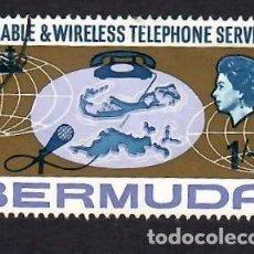 Sellos: BERMUDA (1967). SERVICIO DE TELEFONÍA. YVERT Nº 203. USADO.. Lote 295976698
