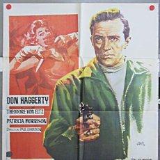 Cine: T04064 EDDIE DRAKE Y LA VIOLENCIA DON HAGGERTY SERIE TV POSTER ORIGINAL 70X100 ESTRENO A. Lote 5945390