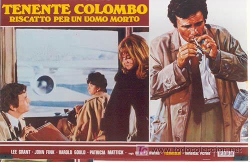 ZL72D COLOMBO RANSOM FOR A DEAD MAN SERIE TV PETER FALK SET DE 6 POSTER ITALIANOS 47X68 (Cine - Posters y Carteles - Series TV)