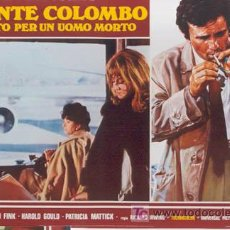 Cine: ZL72D COLOMBO RANSOM FOR A DEAD MAN SERIE TV PETER FALK SET DE 6 POSTER ITALIANOS 47X68. Lote 11817993