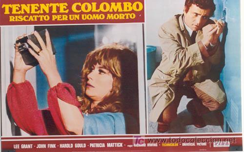 Cine: ZL72D COLOMBO RANSOM FOR A DEAD MAN SERIE TV PETER FALK SET DE 6 POSTER ITALIANOS 47X68 - Foto 6 - 11817993