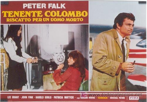 Cine: ZL72D COLOMBO RANSOM FOR A DEAD MAN SERIE TV PETER FALK SET DE 6 POSTER ITALIANOS 47X68 - Foto 2 - 11817993