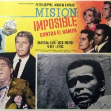 Cine: MISION IMPOSIBLE - PETER GRAVES - MARTIN LANDAU - BARBARA BAIN - TV - ORIGINAL LOBBY CARD MEXICANO. Lote 13705570