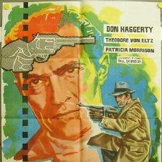 Cine: EA82 EL CRIMEN CONTRA EDDIE DRAKE DON HAGGERTY SERIE TV POSTER ORIGINAL 70X100 ESTRENO B. Lote 9227909