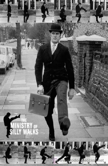 'THE MINISTRY OF SILLY WALKS', DE LOS MONTY PYTHON. 61 X 91 CM. (Cine - Posters y Carteles - Series TV)