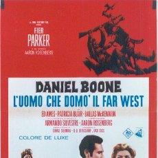 Cine: HZ31 DANIEL BOONE FESS PARKER POSTER DEL PASE EN CINE DE LA SERIE TV ORIGINAL ITALIANO 68X94. Lote 13196780