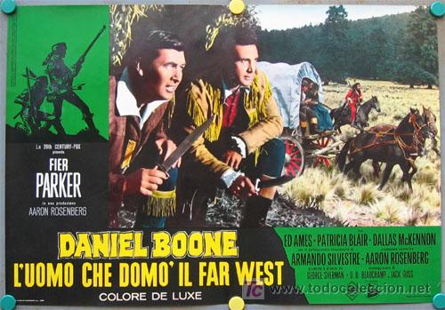 Cine: VF31D DANIEL BOONE FESS PARKER SET 10 POSTERS ORIGINAL ITALIANO 47X68 - Foto 8 - 20150938