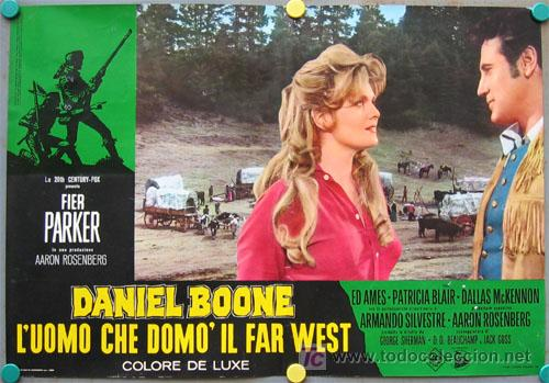 Cine: VF31D DANIEL BOONE FESS PARKER SET 10 POSTERS ORIGINAL ITALIANO 47X68 - Foto 9 - 20150938