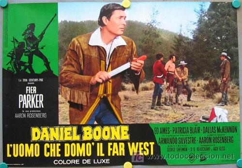 Cine: VF31D DANIEL BOONE FESS PARKER SET 10 POSTERS ORIGINAL ITALIANO 47X68 - Foto 6 - 20150938
