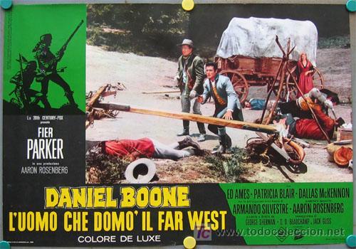 Cine: VF31D DANIEL BOONE FESS PARKER SET 10 POSTERS ORIGINAL ITALIANO 47X68 - Foto 7 - 20150938