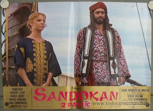 KK54D SANDOKAN KABIR BEDI SERIE TV EMILIO SALGARI SET 14 POSTERS ORIGINAL ITALIANO 47X68 2 (Cine - Posters y Carteles - Series TV)