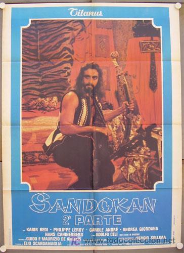 QM43 SANDOKAN KABIR BEDI SERIE TV EMILIO SALGARI POSTER ORIGINAL ITALIANO 100X140 2 (Cine - Posters y Carteles - Series TV)