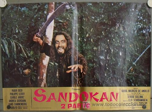 Cine: KK54d SANDOKAN KABIR BEDI SERIE TV EMILIO SALGARI SET 14 POSTERS ORIGINAL ITALIANO 47X68 2 - Foto 14 - 20272578