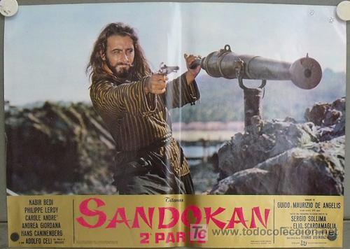 Cine: KK54d SANDOKAN KABIR BEDI SERIE TV EMILIO SALGARI SET 14 POSTERS ORIGINAL ITALIANO 47X68 2 - Foto 10 - 20272578