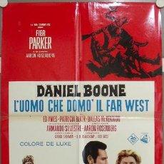 Cine: KU57 DANIEL BOONE FESS PARKER POSTER DEL PASE EN CINE DE LA SERIE TV ORIGINAL ITALIANO 68X94. Lote 16809781