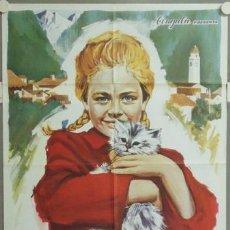 Cine: MM32 TRENZAS DORADAS HEIDI EVA MARIA SINGHAMMER WERNER JACOBS POSTER ORIGINAL 70X100 ESTRENO. Lote 19727379
