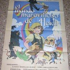 Cine: EL MUNDO MARAVILLOSO DE HEIDI - CARTEL DE CINE AÑOS 70-80 -- ORIGINAL. Lote 25057076